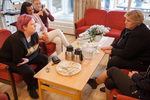 Fredag fikk Kristine Brun møte statsminister Erna Solberg, og fortalt sin historie og om hvordan det er å være svakssynt.