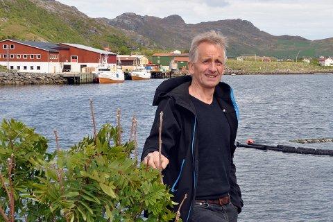 ÅPEN BÅT: Leder i Steinfjorden bygderåd, Svein F. Hansen, håper at mange tar turen til Tangstad lørdag.