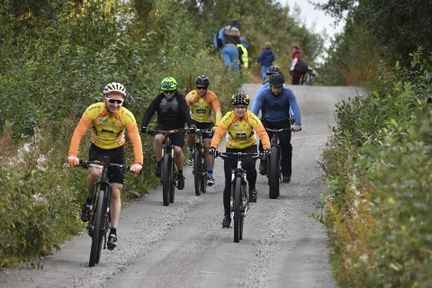 Terreng: Lofoten sykkelklubb arrangerte klubbmesterskap i terrengsykling.Foto: Eirik Eidissen