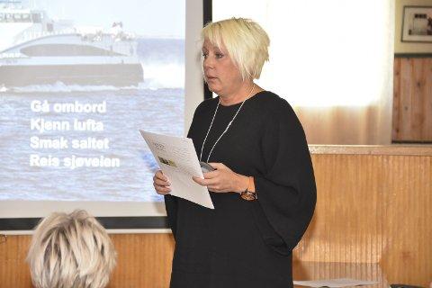 Visit Skrova: Ritha Johansen i Visit Skrova trakk fram at satsingen på turisme i Skrova gir resultater og at Bodø vil tape som knutepunkt.