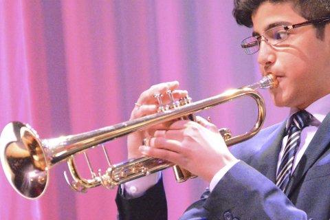Talent: 15 år gamle Temmam Al-Taie kom gjennom nåløyet for å bli med i talentprogrammet Unge musikere. Foto. Geir Inge Winther