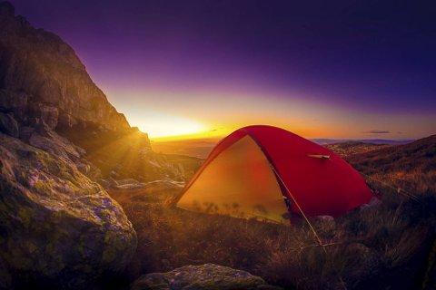 TELT: Finner du teltet kan det bli ditt. Foto. Bjørn Tore Moen