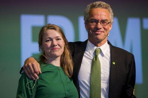 Miljøpartiet de grønne: Une Aina Bastholm og Rasmus Hansson i MDG mener mer asfalt ikke er svaret for å bedre samferdsel.