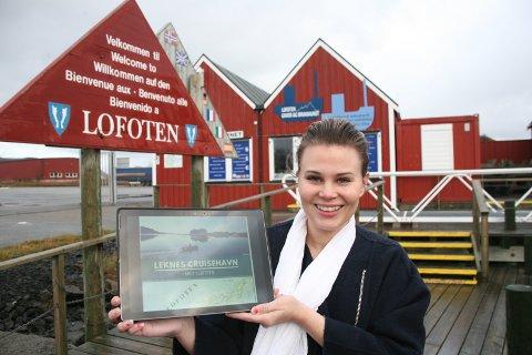 - Leknes er  Nord-Norges tredje største cruisehavn og det vil vi få frem. Vi har god erfaring med å håndtere cruisetrafikk og ligger midt i Lofoten, påpeker havnekonsulent Angelina Wårheim.