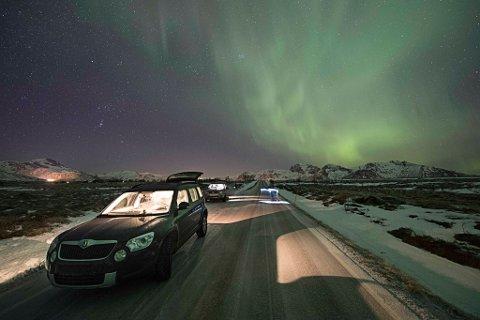 Bildet tatt av involverte Frank Olsen like etter at uhellet har skjedd på Gimsøy i Lofoten.