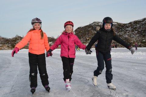 - Ståle er helten vår, fortalte Sofia Karlsen (t.v.), Ronja Berg og Charlotte Johansson.