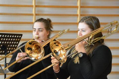 TROMBONER: Borge Brass Band inviterer til festkonsert på lørdag.