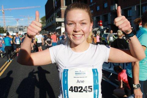 I god form: Ane Marie Johnsen holdt jevn og god fart da hun gjorde unna maratondebuten i Oslo i helga.