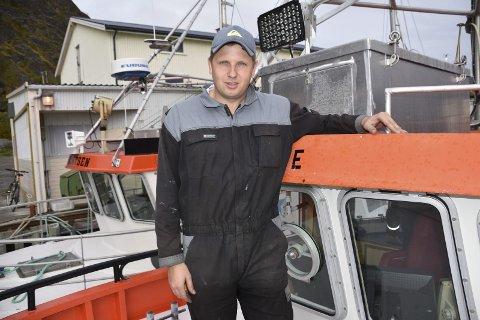 """TROMS: Skipper Thomas Andrè Sivertsen på """"T.Sivertsen"""" er ikke helt fornøyd med starten på årets vintersesong."""