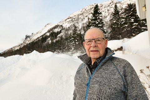 Onsdag 7. mars 1956 glemmer jeg aldri, da raset gikk i fjellet bak meg, sier Frode Olsen i Kongsmarka.