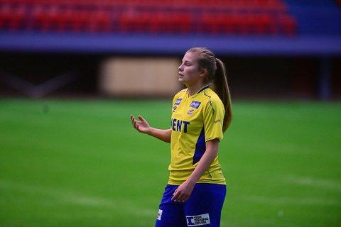 FRA ØRN TIL RBK: Neste sesong vil den gule Trondheims-Ørn-drakten byttes ut med den hvite RBK-drakten for Cesilie Andreassen (23).