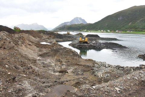 FRARÅDER: Fylkesmannen i Nordland fraråder at Rasmussen Anlegg AS får utvide masseuttaket i Tussan.