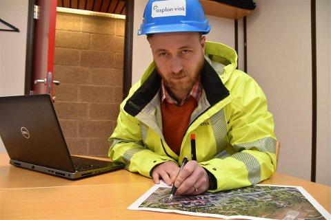 STORGATA: Sivilingeniør Kenneth Westeng i Asplan Viak, er byggeleder for Storgata-prosjektet