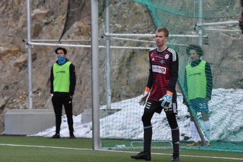 Fokusert keeper: Sebastian Hågensen Kjønsø holder unna i slutt minuttene.