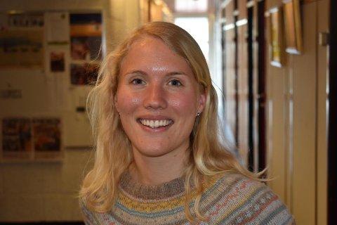 IVRIG: Line Holm fra Toten valgte å kjøre nordover med nytt førerkort og ny bil for å ta fatt på en tre måneder lang sommerjobb.
