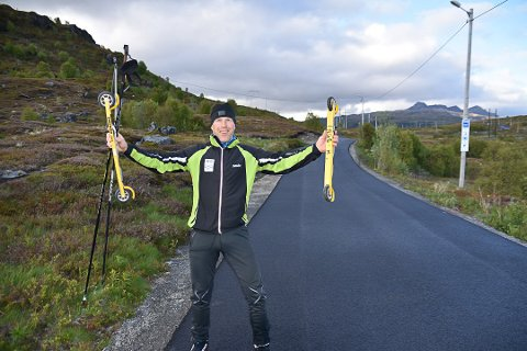BYGGER TURSTI: Formann i Leknes skiklubb, Inge-Harald Olsen, gleder seg til å komme i gang med bygging av tursti mot Gammen.