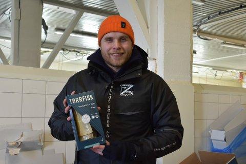 Finaleklar: Daglig leder i Berg Seafood AS, er stolt som en hane av at deres produkt kan gå helt til topps i kategorien «årets sjømat – foredlet».