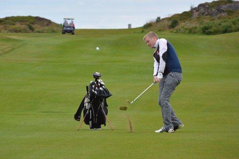 Mester: Lars Magnussen ble nordnorsk mester i golf i helga. Nå er han kvalifisert til norgesmesterskapet i 2020.
