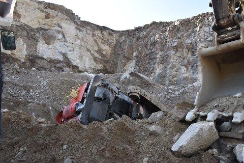 VELTET: Boreriggen jobbet på det nederste platået da ulykken skjedde.