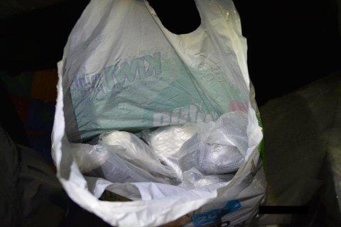 BESLAG: Dette er noe av narkotikaen som ble beslaglagt under den første aksjonen. Foto: Politiet