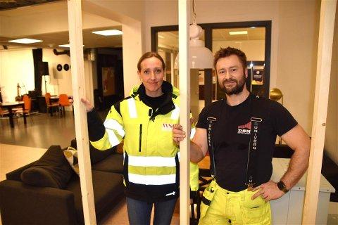 Meieriet: Sigrid Arctander og Anders Amundsen.