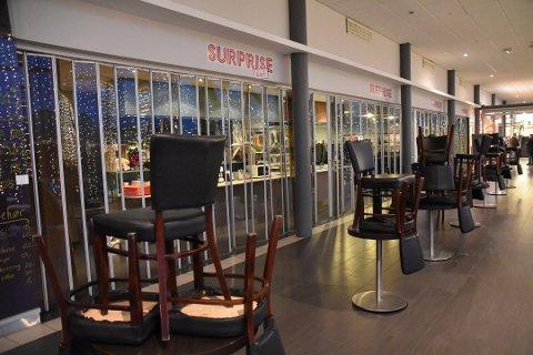 AVSLUTTET: Surprise Kafe holdt til i andre etasje i Lofotsenteret.