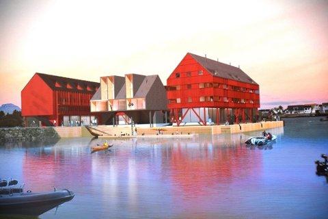POSITIV: Disse planene på Reineholmen på Ballstad anbefaler rådmannen at Vestvågøy kommune sier ja til. Illustrasjon: VÅG Arkitektur
