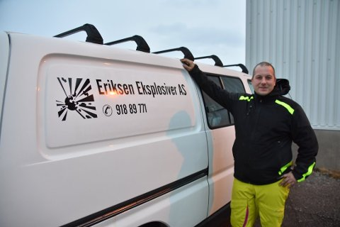 SUKSESS: Eriksen Eksplosiver  AS eies og drives av Benn-Roger Eriksen
