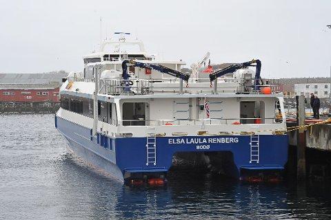KRITISK: En reisende uttrykte misnøye med servicen på denne hurtigbåten, da han skulle fra Bodø til Svolvær. Nå kommer Boreal med et tilsvar.