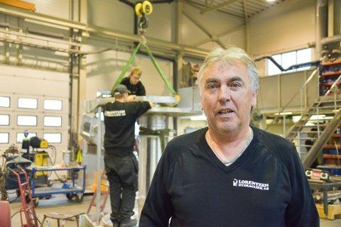 FORNØYD: Daglig leder John Sverre Lorentzen sier bedriften i Kabelvåg med 28 ansatte hadde nok et godt driftsår i 2019.