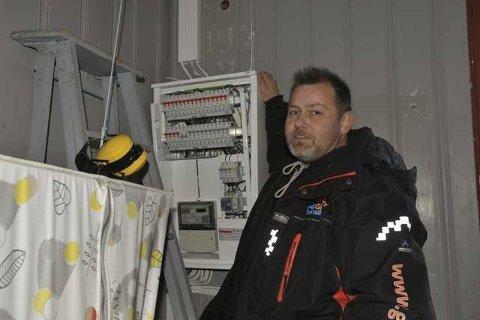 FULL JOBB: Daglig leder Frank Arne Nygård i Haneseth Lofoten AS sier de i hele koronatiden har hatt full jobb.