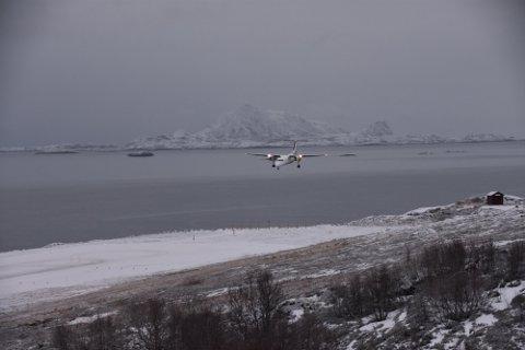 Kansellert: Widerøes flyvning 829 fra Svolvær til Bodø er kansellert torsdag.
