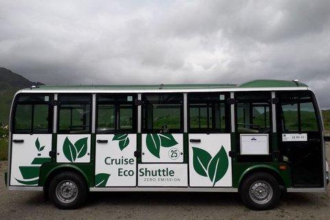 FREDVANG: Arctic Guide Service mener det er grunnlag for fortsatt drift av shuttlebuss på Fredvang, dersom det ikke blir for mange private parkeringsplasser.
