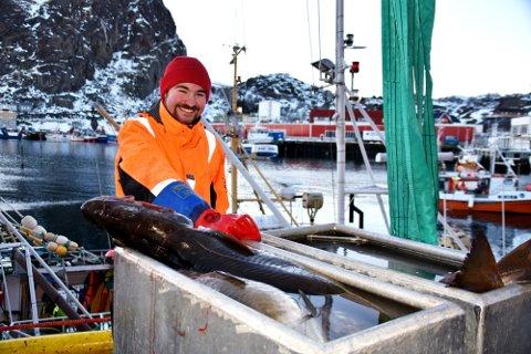 FORNØYD: Benn Ole Stensvold er fornøyd med at det fortsatt er torsk på Yttersia.