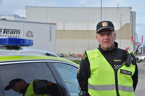Storfangst: Mons Klaussen har sammen med makker Per Helge Moe tatt godt over 100 fartssyndere bare denne uken. Det bekymrer UP-lederen.