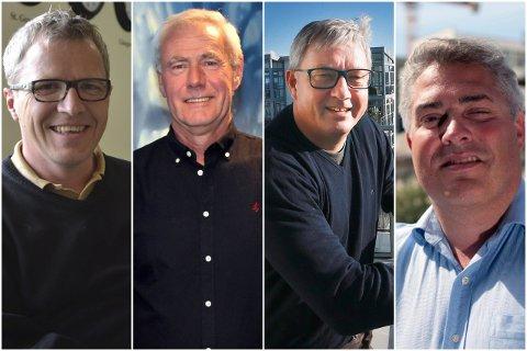 BIDRAR:  Jim Roger Nordly,  Kjell Lorentsen, Benn Eidissen og Tord Ueland Kolstad er blant privatpersonene som bidrar med penger i forbindelse med stortingsvalget.