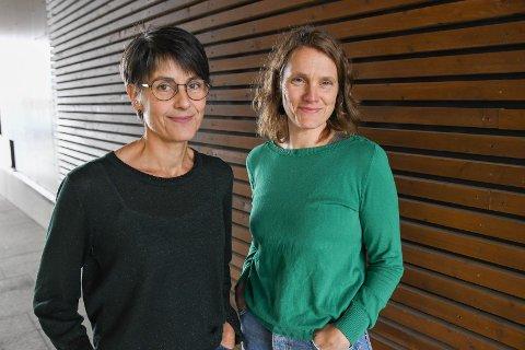 Engasjert: Camilla Johansson (t.v) og Guro Molaug er blant de som nå står aktivt på for å bevare Rækøya.