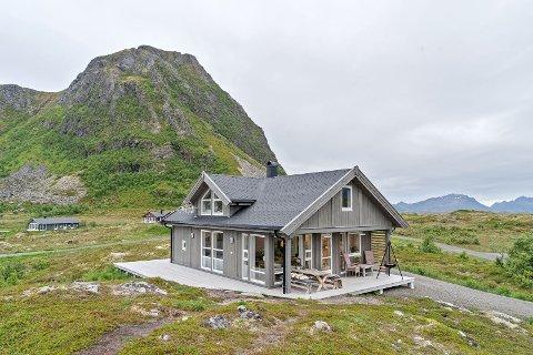 Solgt: Denne fritidsboligen på Gimsøy ble nylig solgt for 4,64 millioner kroner.