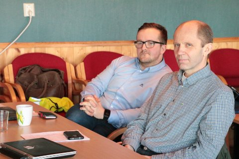Jim Olaisen og Trond Kroken i Flakstad Senterparti.