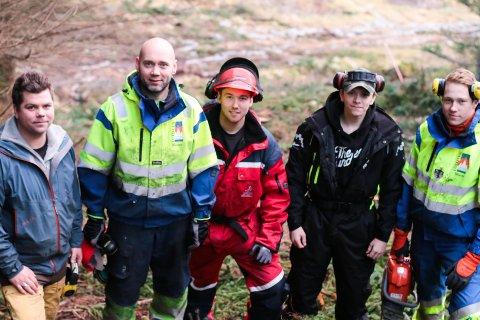 SKOGENS KONGER: Fra venstre: Tommy Strømmen, Christian Haddal, Alexander Pedersen, Mathias Strømmen og Martin Pedersen.