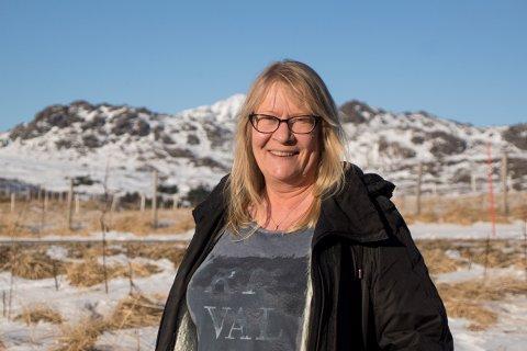 Avdelingsleder Marion Fjelde Larsen ved Lofotr Vikingmuseum.