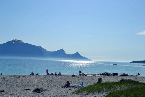 Sommer og sol på Haukland.