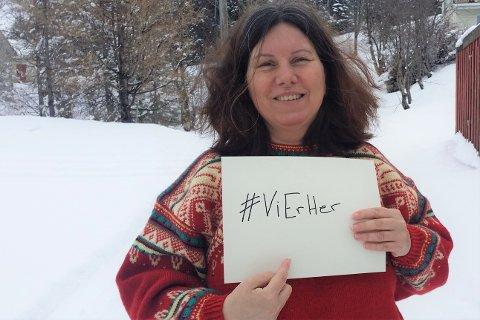 #VIERHER: Kathrine Ølversdatter Helt Eriksen (49) fra Ramberg har startet Facebook-gruppa #ViErHer, som skal jobbe mot netthets.