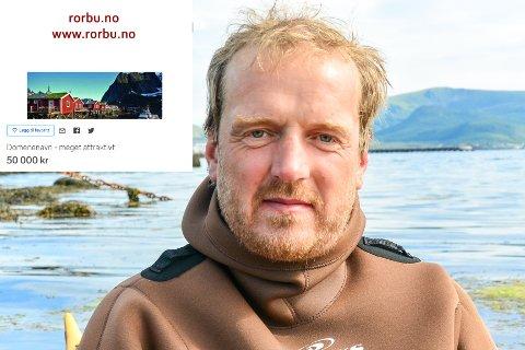 SELGER DOMENENAVN: Morten Eilertsen fra Vestvågøy håper å selge domenenavnet www.rorbu.no med god fortjeneste.