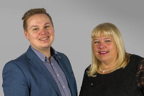 Høyres fylkesrådslederkandidar Beate Bø Nilsen og Joakim Sennesvik