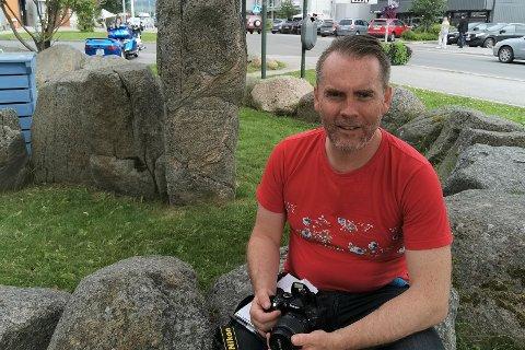 NY JOURNALIST: Andre Bruun (46) er ny journalist i Avisa Lofoten.