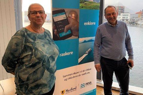 Moskenes-ordfører Lillian Rasmussen (Bygdelista) og Vågan-ordfører Frank Johnsen (Sp) møtte Nordland fylkeskommune fredag, for å diskutere samferdsel og kollektivtransport i regionen.