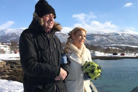 FULGTE DATTEREN: Ole Kyrre Skavhaug (57) fulgte datteren Anne-Grete som brud, bare 24 dager før han døde. Hun tror faren må ha kjempet hardt for å få med seg bryllupet.