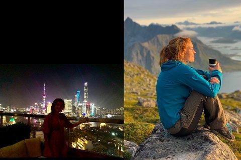 KONTRASTER: Agnes Dreiås Lund flyttet fra Shanghai til Strømsnes og begynte som lærer på Sørvågen skole.