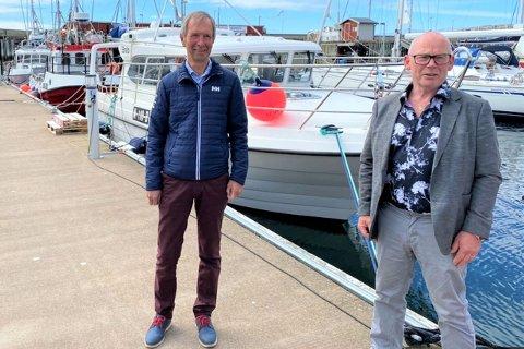 Steinar Jonassen (til venstre) sammen med styreleder Jan Fredriksen.
